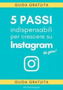 Guida Gratuita per Personal Brand - Guida Gratuita per crescere su Instagram - Sfondo Federica Mentafragola - Instagram Coach - Business Online da zero